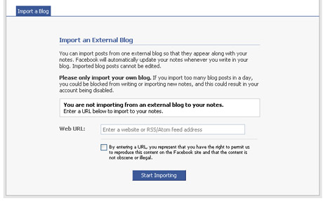 Import Website Updates into Your Facebook Page