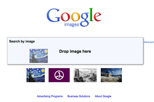 Google Images Screenshot