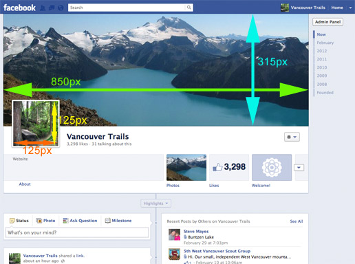 Facebook Timeline Cover Photo Dimensions